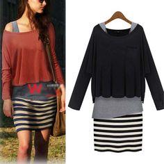 Stripes. Dress.