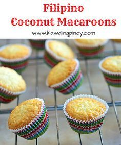 Filipino Coconut Macaroons are made with shredded coconut, condensed milk, eggs and butter for a soft, cake-like version of macaroons