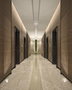 Mimar Interiors Lift lobby lighting. Wall graze. corridor