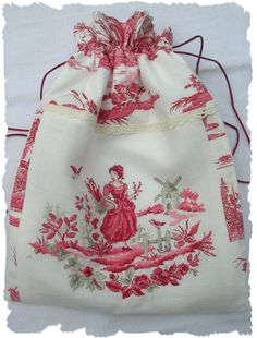 sac / point de Croix / toile de jouy / LBP / cross stitch