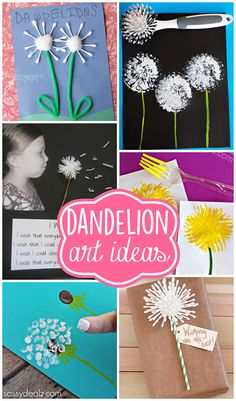 Pretty Dandelion Art & Craft Ideas for Kids and Adults | CraftyMorning.com
