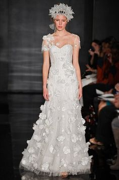 Reem Acra Wedding Dresses, Gown, Fall 2012 || Colin Cowie Weddings