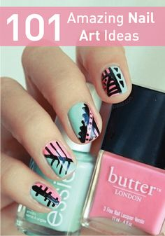 Click for all the amazing nail art ideas!