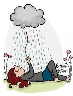 Paris Illustration, Cute Illustration, Image Fb, Sad And Lonely, Elephant Art, Funny Bunnies, Jolie Photo, Dancing In The Rain, Naive Art