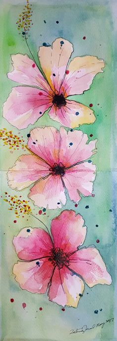 Hibiscus just hibiscus by InaJaal #watercolour #flowers #inajaal