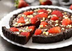 Sütés nélküli csokoládés-epres pite | Nor receptje - Cookpad receptek