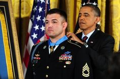 Army Staff Sergeant Leroy Petry received the Medal of Honor for his actions in Afghanistan in 2008. While under enemy fire and wounded in both his legs, Petry continued to move to protect his fellow Rangers - eventually picking up a grenade which detonated shortly after he released it away from the group, amputating his hand.