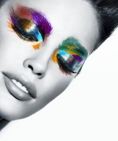 fall 2011 Mercedes-Benz Fashion Week ad campaign. Model: Emily DiDonato. Makeup Artist: Charlotte Willer.