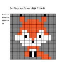 Two Needle Socks – Free Knitting Pattern Fingerless Gloves Crochet Pattern, Crochet Mittens, Knitted Gloves, Pixel Pattern, Fox Pattern, Pattern Ideas, Knitting Charts, Baby Knitting Patterns, Knitting Toys
