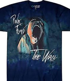 3ba48df27b8 Pink Floyd The Wall Screaming Face Tie Dye Licensed Graphic Tee by Liquid  Blue
