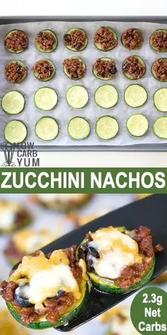These healthier keto nachos use zucchini slices and low carb chili. It's a filling appetizer or snack. These healthier keto nachos use zucchini slices and low carb chili. It's a filling appetizer or snack. Low Carb Chili, Low Carb Keto, Low Carb Recipes, Diet Recipes, Healthy Recipes, Bread Recipes, Low Carb Zucchini Recipes, Snacks Recipes, Cookbook Recipes