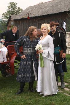 Stroje ślubne/ wedding dress for Agnieszka I Maciej. Wykonanie/ hand made: Agnieszka Mazur stroje historyczne