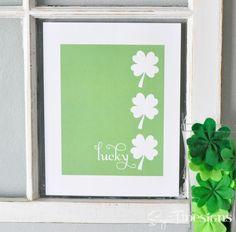 St. Patrick's Day Lucky Shamrock {Free Printable}