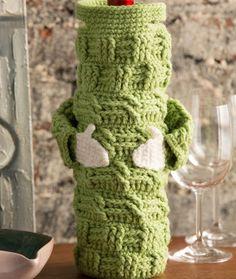 Butler's Bottle Hugger Free Crochet Pattern in Red Heart Yarns