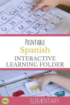 Great for learning Spanish words! Spanish Interactive learning folder! #spanish #interactive #learning #folder #learn #espanol #elementary #kids #learn #resource #activity #activities #homeschool #classroom #foreign #language #vocabulary #vocab #words #alphabet #teach #easy #fun #help Language Study, Spanish Language Learning, Teaching Spanish, Spanish Grammar, Spanish Activities, Learn Spanish Online, How To Speak Spanish, Elementary Spanish, Spanish Classroom