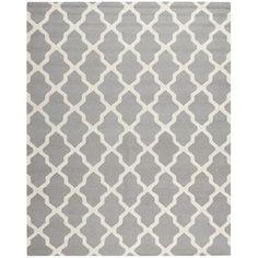 Safavieh Cambridge Rectangular Gray Geometric Tufted Wool Area Rug (Common: 8-ft x 10-ft; Actual: 8-ft x 10-ft)