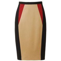 JASON WU Colour blocked techno jersey pencil skirt found on Polyvore