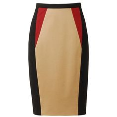 JASON WU Colour blocked techno jersey pencil skirt found on Polyvore