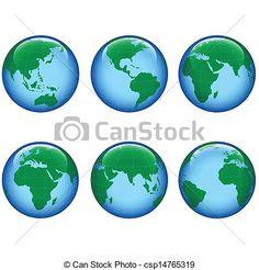 Vector - planeta, tierra, mapa - stock de ilustracion, ilustracion libre de, stock de iconos de clip art, logo, arte lineal, retrato de EPS, Retratos, gráficos, dibujos gráficos, dibujos, imágenes vectoriales, trabajo artístico, Arte Vectorial en EPS