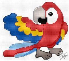 macaw parrot cross stitch patterns | FREE PATTERNS - Animals - Parrot - Gvello Stitch
