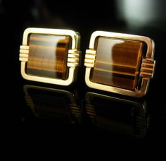 A perfect cufflink addition to a collection or for a gift for that special someone. Tigers eye is a very protective stone. It has a powerful, dynamic energy with a watchful quality to it. After all, there is a reason this stone is called tigers eye!  And remember, a personal well thought out gift shows you took the time to care about that special person in your life. Our items are classic, sometimes unusual and vintage and sometimes a little bizarre. Whether it is a memory from their past or…