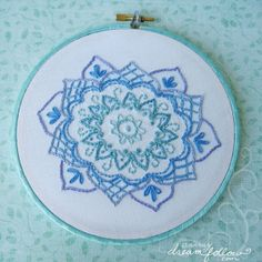 Blue Embroidery #embroidery #blue