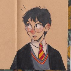 Harry!! :) #Inktober Prismacolor. btw I opened another instagram @chabechabe13 for personal daily stuff! Hahaha because I don't like to post here those stuff this is only for my drawings #harrypotter