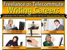 Learn about different freelance writing careers at FreelanceWriting.com