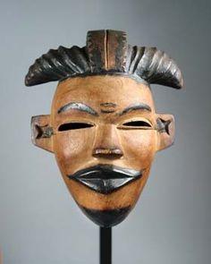 Elu-Mask of a beautiful girl Nigeria, Ogoni