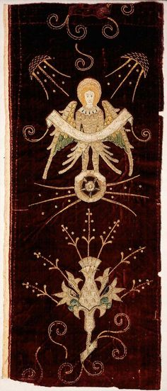 Fragment of an ecclesiastical vestment or altar cloth - English - 1475-1500