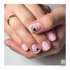 Use the light shade all around the nails and let it dry. French Manicure nails might be come of the most fundamental, but they're still among the most stunning. This valentines day acrylic nails will be quite hard to paint… Continue Reading → French Manicure Nails, Manicure E Pedicure, Diy Nails, Stylish Nails, Trendy Nails, Acryl Nails, Valentine Nail Art, Minimalist Nails, Super Nails