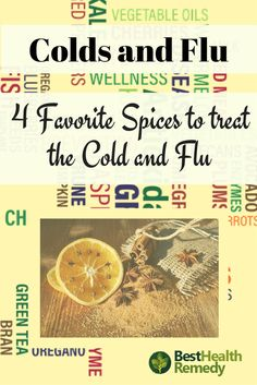 4 FAVORITE SPICES TO TREAT THE COLD AND FLU. There are many spices which provide healing benefits as well as flavour. Here are my 4 favorite spices which I use to treat the cold and flu #coldandflu, #remedy, #naturalhealing, #health, #healyourself, #nutrition, colds and flu, cold or flu, cold and flu remedies, cold and flu spices, spices for colds and flu, natural remedies for colds and flu, ginger, ginger and lemon, cinnamon, cloves, spices, turmeric