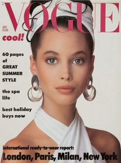 Vogue's Covers: Christy Turlington || Vogue UK July 1986 by Patrick Demarchelier