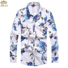 Item Type: Shirts Gender: Men Pattern Type: Floral Sleeve Style: Regular Style: Casual Closure Type: Single Breasted Fabric Type: Broadcloth Material: Cotton,Polyester Fit: Fits true to size, take you