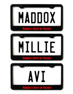 Drive in movie birthday party  DIGITAL license plate by mlewis117, $15.00