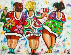 Gedeeld van www. Plus Size Art, Painting People, Doll Quilt, Poster Pictures, Creative Pictures, Arte Popular, Fat Women, Naive Art, Fabric Painting