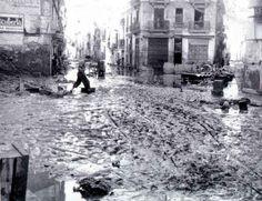 Calle Sagunto riada 1957