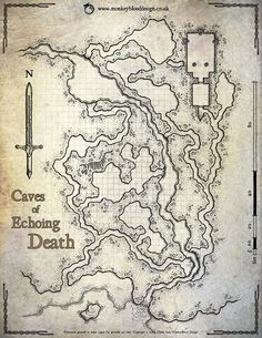 Map Monday: The Caves of Echoing Death – OSR Today