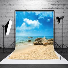 5X7ft Vinyl Sea Beach Photography Background Photo Studio Backdrop is Dreamlike-NewChic   US$16.31 US$33.38 -51% #Home #Garden #HomeGarden #Decor #DIY #Ideas