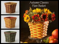 Bring the beauty of the season into your home with the brilliantly fall colored Autumn Classics Flare Basket