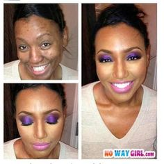 Wow! I don't know what else to say....but you need to NOT go a day without makeup though.