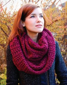 another infinity scarf pattern, big and comfy