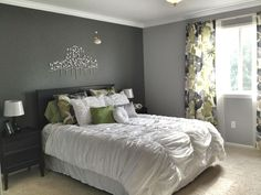 Cool grey bedroom | Incredible Grey Walls Bedroom Design