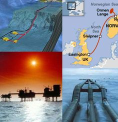 ENGINEERING:  Worlds Largest Underground Pipeline from More Norway to Easington Britain, it supplies 20% of Britain's gas needs