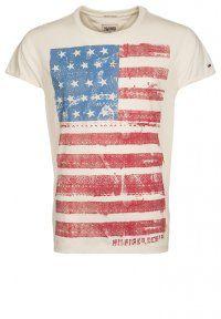 Hilfiger Denim - SURLY - T-shirt con stampa - marshmallow #tommyhilfiger #fashion #american #style #tshirt
