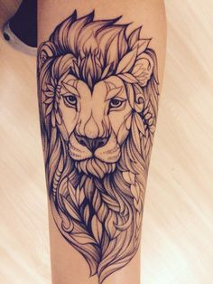 44 Lion Tattoo Can Inspire You to Draw New Tattoo Tattoos Motive, Leo Tattoos, Bild Tattoos, Future Tattoos, Animal Tattoos, Body Art Tattoos, Tatoos, Tatto Skull, Arm Tattoo