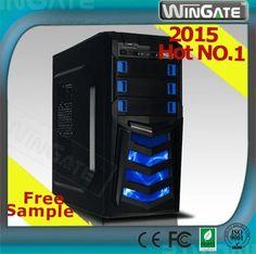 Gaming case PC desktop computer white case USB3.0/3 cooling fans/blue LED