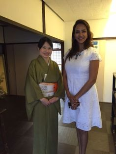 """Hello, I'm a host of Tea Ceremony Koto, just a 1 minute walk from Golden pavilion in Kyoto Japan. I welcome many guests from foreign countries and explain tea ceremony in English.  It was very nice to welcome Lakshmi Manchu, a beautiful actress from India. She had been on the American TV """"Las Vegas"""" and many movies in India. It was the first time for me to meet Movie Star!    A Movie Star from India!   I have heard it was the first time for her to come to Japan, so tea ceremony was one…"""