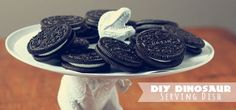 DIY Dinosaur Serving Dish by Three Little Monkeys Studio