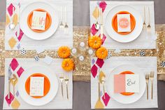 DIY these stamped placemats to amp up your dinner party decor.